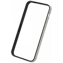 736ffdb9e5 iPhone SE / 5s / 5用 フラットバンパーセット シルバー&ブラック PSE-45 液晶保護フィルム・背面フィルム付