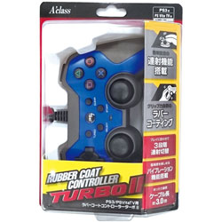 PS3/PSVitaTV用 ラバーコントローラーターボ2 (ブルー×ブラック) [SASP-0292]