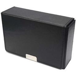 合皮製スリムカードケース(ブラック)