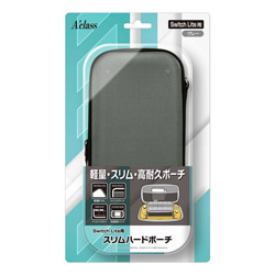 Switch Lite用 スリムハードポーチ グレー SASP-0536 【Switch Lite】