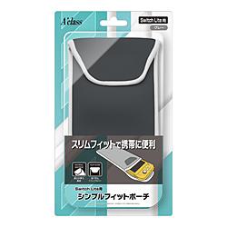 Switch Lite用 シンプルフィットポーチ グレー SASP-0539 SASP-0539