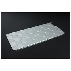 iPhone 6s Plus/6 Plus用ソリッドバンパー対応 アルミパネル市松 シルバー 41467 GI-308S