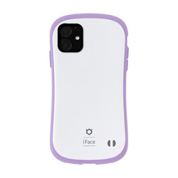 iPhone 11 6.1インチ iFace First Class Pastelケース 41-911549 ホワイト/パープル