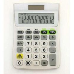 軽減税率対応電卓 C1244W
