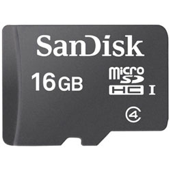 16GB・Class4対応microSDHCカード(SDHC変換アダプタ付) SDSDQ-016G-J35U [マイクロSD]