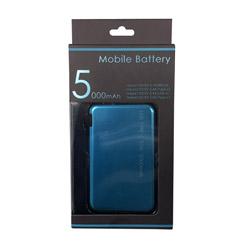 小型モバイルバッテリー5000mAh LCC050-11CRB セルリアンブルー