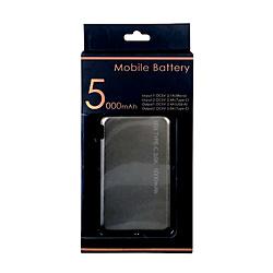 小型モバイルバッテリー5000mAh LCC050-11BZ ブロンズ [5000mAh /3ポート /microUSB /USB-C /充電タイプ]