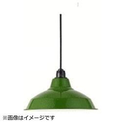 LEDペンダントライト ホーロー配照型セット 12インチ[シーリング /1灯] グリーン