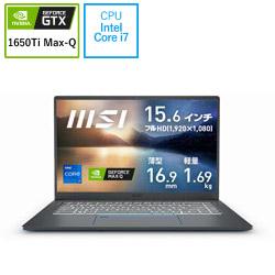 ノートパソコン Prestige 15 A11 カーボングレイ Prestige-15-A11SCS-005JP [15.6型 /intel Core i7 /SSD:512GB /メモリ:16GB /2021年2月モデル]