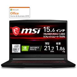 MSI(エムエスアイ) GF63-10SCSR-1275JP ゲーミングノートパソコン GF63 Thin  [15.6型 /intel Core i7 /SSD:512GB /メモリ:8GB /2021年1月モデル]