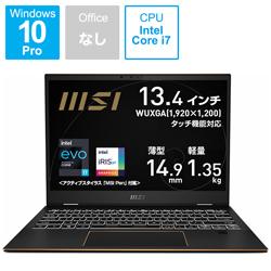 MSI(エムエスアイ) ノートパソコン Summit E13 Flip Evo(コンバーチブル型) インクブラック SUMMIT-E13-A11MT-015JP [13.4型 /intel Core i7 /SSD:512GB /メモリ:32GB /2021年4月モデル]
