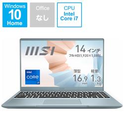 MSI(エムエスアイ) ノートパソコン Modern 14 B11S ブルーストーン MODERN-14-B11M-461JP [14.0型 /intel Core i7 /SSD:512GB /メモリ:16GB /2021年4月モデル]