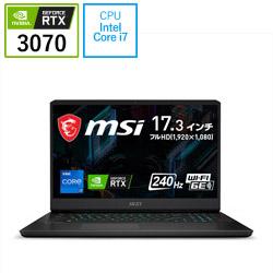 MSI(エムエスアイ) GP76-11UG-322JP ゲーミングノートパソコン GP76 Leopard 11U ブラック [17.3型 /intel Core i7 /SSD:1TB /メモリ:16GB /2021年5月モデル]