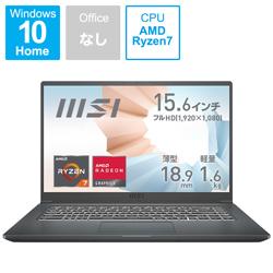 MSI(エムエスアイ) ノートパソコン Modern 15 A5M カーボングレイ Modern-15-A5M-570JP [15.6型 /AMD Ryzen 7 /メモリ:16GB /SSD:512GB /2021年7月モデル]