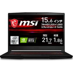 MSI(エムエスアイ) GF63-10UC-429JP ゲーミングノートパソコン GF63 Thin 10U  [15.6型 /intel Core i7 /SSD:512GB /メモリ:16GB /2021年6月モデル]