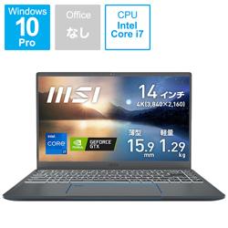 ノートパソコン Prestige 14 A11 カーボングレイ Prestige-14-A11SC-3106JP [14.0型 /intel Core i7 /メモリ:32GB /SSD:512GB /2021年9月モデル]