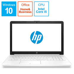 ノートPC 15-da0093TU-OHB 4QM63PA-AAAB ピュアホワイト [Win10 Home・Core i5・15.6インチ・Office付き・HDD 1TB]