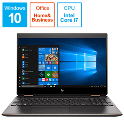 hp(ヒューレットパッカード) ノートPC Spectre x360 15-df0009TX-OHB 5KU78PA-AAAB [Win10 Pro・Core i7・15.6インチ・Office付き]