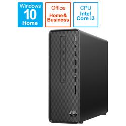 hp(ヒューレットパッカード) 9AQ16AA-AAAB デスクトップパソコン Slim Desktop S01-pF0121jp-OHB ジェットブラック [モニター無し /HDD:1TB /メモリ:8GB /2020年6月モデル]