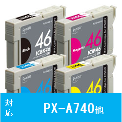 PLE-E464P-N (エプソン IC4CL46対応/互換インクカートリッジ/4色BOXパック)