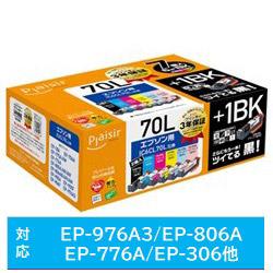 PLE-E70L6P+1BK 互換プリンターインク プレジール 6色
