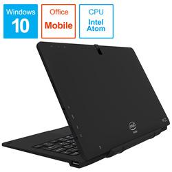 ノートPC WiZ KIC102-BK ブラック [Atom・10.1インチ・eMMC 32GB・メモリ 2GB]