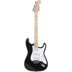 エレキギター ストラトキャスタータイプ メイプル指板 PhotoGenic(フォトジェニック) ブラック ST-180M/BK(S.C)