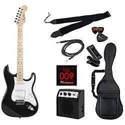 エレキギター ライトセット ストラトキャスタータイプ メイプルネック PhotoGenic(フォトジェニック) ブラック ST-180/MBK