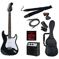 エレキギター ライトセット ストラトキャスタータイプ マッチングヘッド PhotoGenic(フォトジェニック) ブラック ST-180/HBK