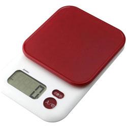 デジタルスケール 「ガナッシュ」(3kg) KS-805-RD レッド