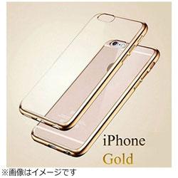 iPhone X用 メッキ加工クリアソフトケース ゴールド AM379GO