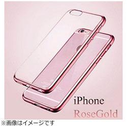 iPhone X用 メッキ加工クリアソフトケース ピンク AM379PK