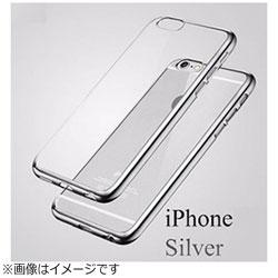 iPhone X用 メッキ加工クリアソフトケース シルバー AM379SV