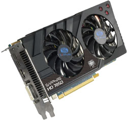 HD7850 2G GDDR5 PCI-E HDMI/DVI-I/DUAL MINI DP