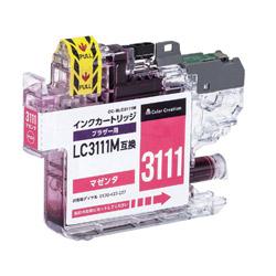 互換プリンターインク ブラザー用 CC-BLC3111M マゼンタ