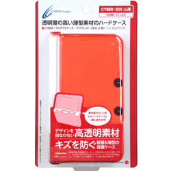 3DS LL用 プロテクトケース クリアレッド [CY-3DLPTC-RE]