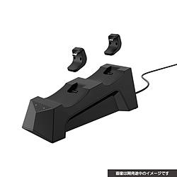 PS5用 置くだけで充電できるコントローラースタンドダブル ブラック CY-P5OCCSW-BK