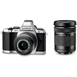 [Used] OM-D E-M5 double zoom kit (Silver)