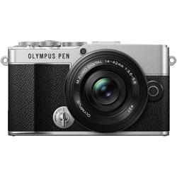 OLYMPUS(オリンパス) OLYMPUS PEN E-P7 14-42mm EZ レンズキット ミラーレス一眼カメラ  シルバー  [ズームレンズ]