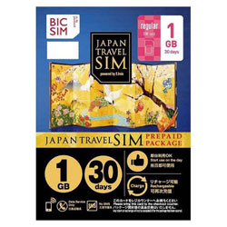 IIJ 【在庫限り】 Regular SIM 「BIC SIM JAPAN TRAVEL SIM/1GB」 Prepaid・Data only・SMS unavailable IM-B190