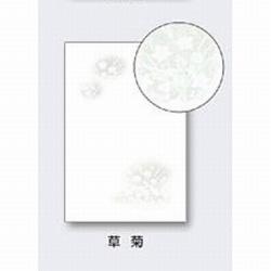 インクジェット用喪中はがき 郵便番号枠あり (100枚) 草菊 XZ0032 草菊 XZ0032