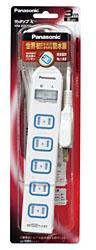 テーブルタップ 「ザ・タップX」(安全設計扉・パッキン付コンセント・6個口・3m・防水スイッチ) WHA25362WP