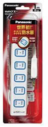 テーブルタップ 「ザ・タップX」(安全設計扉・パッキン付コンセント・6個口・1m・スナップキャップ)WHA2516WP