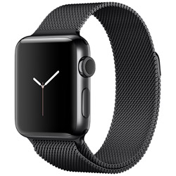 Apple(アップル) 【在庫限り】 Apple Watch Series 2 38mm スペースブラックステンレススチールケースとスペースブラックミラネーゼループ MNTM2J/A