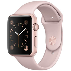 Apple(アップル) 【在庫限り】 Apple Watch Series 1 42mm ローズゴールドアルミニウムケースとピンクサンドスポーツバンド MQ112J/A