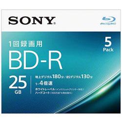録画用 BD-R Ver.1.2 1-4倍速 25GB 5枚【インクジェットプリンタ対応】 5BNR1VJPS4