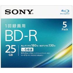 5BNR1VJPS6 録画用BD-R SONY ホワイト [5枚 /25GB /インクジェットプリンター対応]