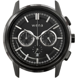 wena wrist Chronograph Classic Premium Black Head WNW-HC21 B