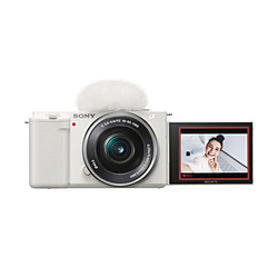 SONY(ソニー) VLOGCAM ZV-E10L パワーズームレンズキット ミラーレス一眼カメラ  ホワイト  [ズームレンズ]