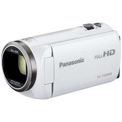SD対応 16GBメモリー内蔵フルハイビジョンビデオカメラ(ホワイト) HC-V360MS-W HC-V360MS ホワイト [フルハイビジョン対応]